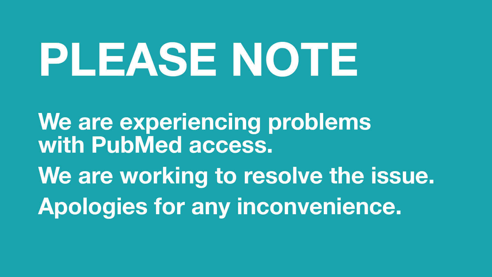 PLEASE NOTE: Access Issues with PubMed | UCSF Library