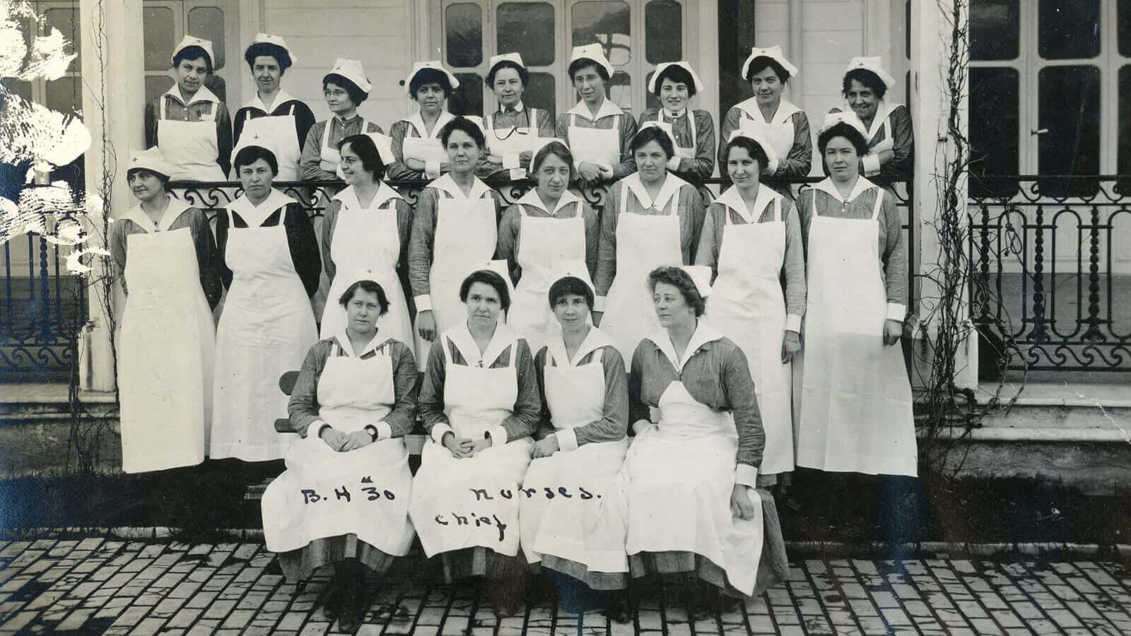 UCSF Archives WWI Exhibit - Base Hospital No. 30 nurses