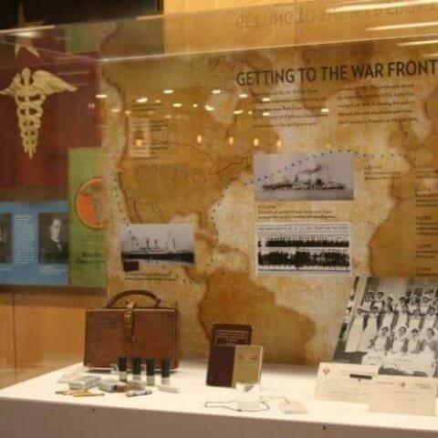 WW1 exhibit display