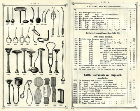 page with instruments
