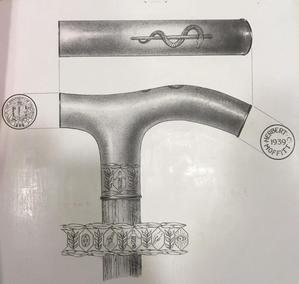 Gold-Headed Cane vintage blueprints